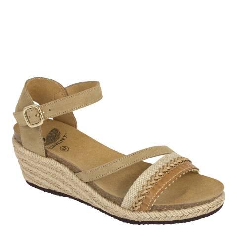 Scholl Sand Suede Mayra Platform Sandals