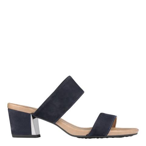 Scholl Navy Blue Diana Nubuck Sandals