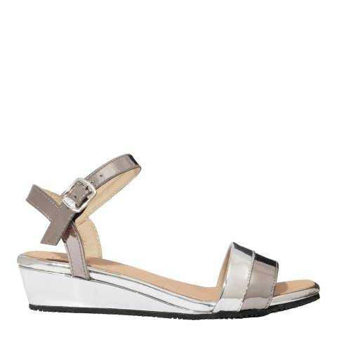 Scholl Pewter & Silver Lydia Sandals