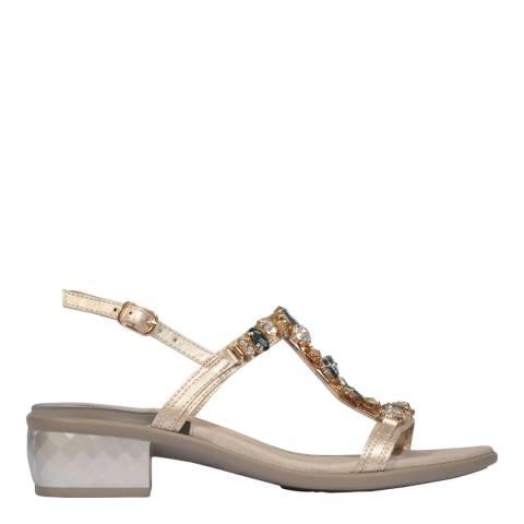 Scholl Platinum Gold Kermesse Jewelled Sandals