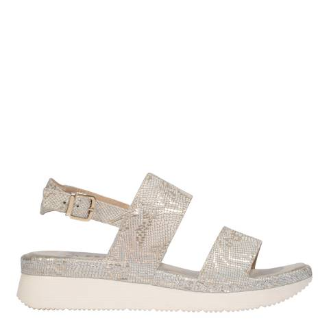 Scholl Off White & Gold Allyson Sandals