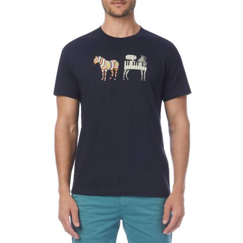 PAUL SMITH Navy Jazzy Zebra Regular T-Shirt