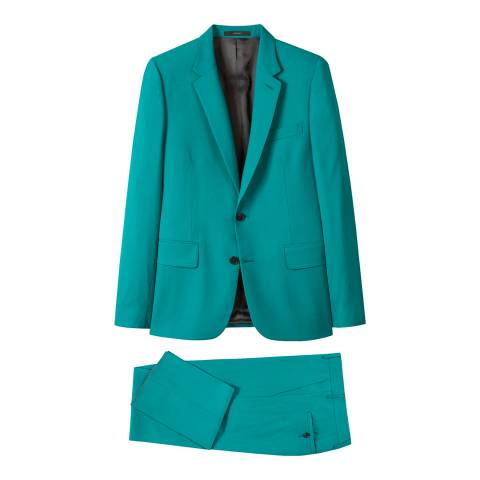 PAUL SMITH Teal Tailored Fit Suit