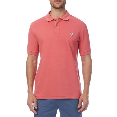 PAUL SMITH Coral Zebra Regular Fit Polo Shirt