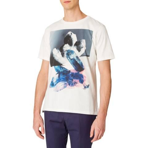 PAUL SMITH White Crystal Print T-Shirt