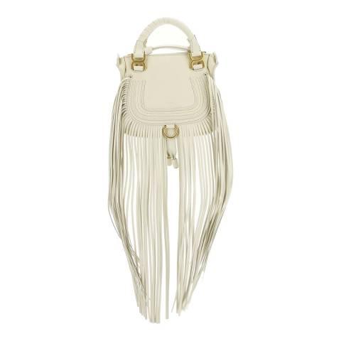 Chloe Natural White Mini Marcie Handbag