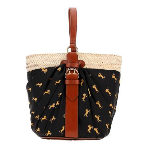 Chloe Black/Yellow Panier Bucket Bag