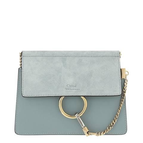 Chloe Faded Blue Faye Chain Mini Bag