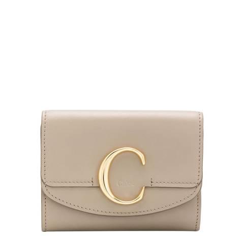 Chloe Motty Grey Small Trifold Wallet