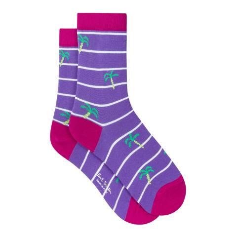 PAUL SMITH Purple Juliet Women Socks