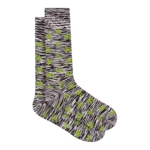 PAUL SMITH Black Palm Socks