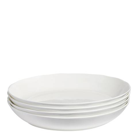 Soho Home Set of 6 Scalloped Salad Bowls 23cm