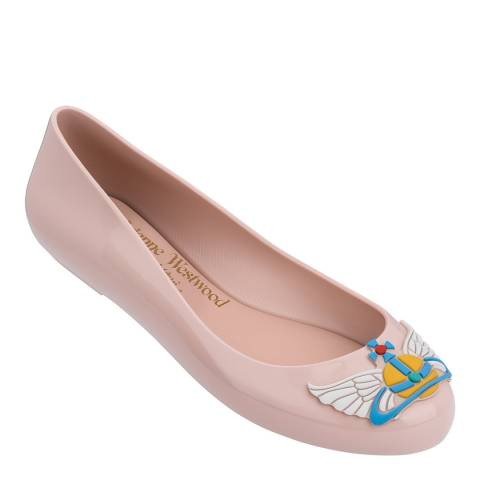 Vivienne Westwood for Melissa Blush Space Love 22 Wing Orb Ballet Pumps