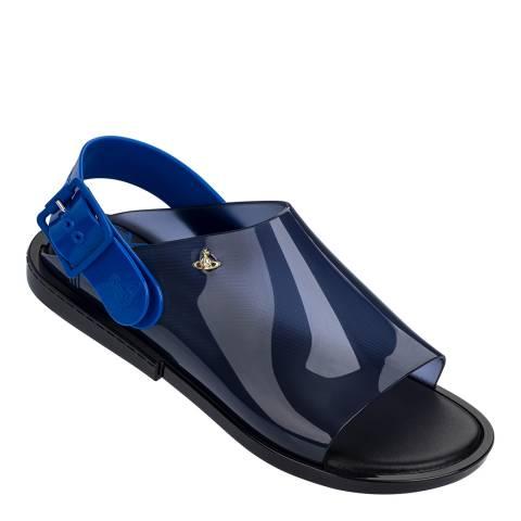 Vivienne Westwood for Melissa Blue Contrast Twist Sandals