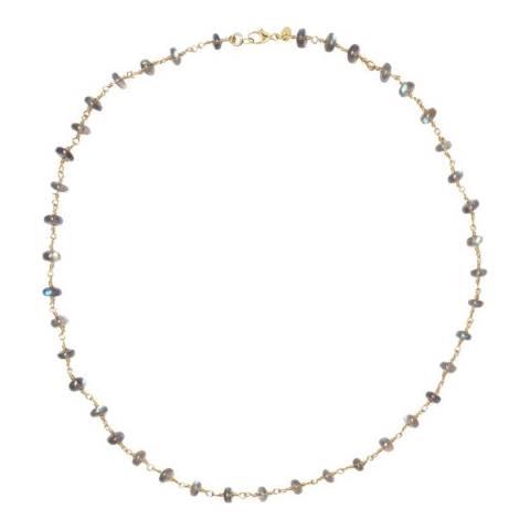 Liv Oliver 18K Gold Plated Labradorite Necklace