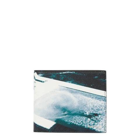 PAUL SMITH Blue Photo Print Bifold Wallet