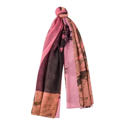 PAUL SMITH Fuchsia Paul's Photo Scarf