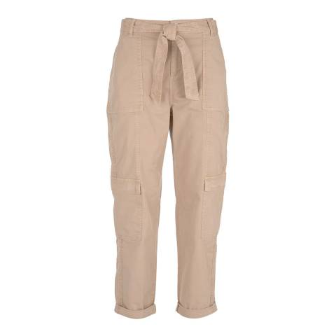 Mint Velvet Beige Tie Waist Cargo Trousers