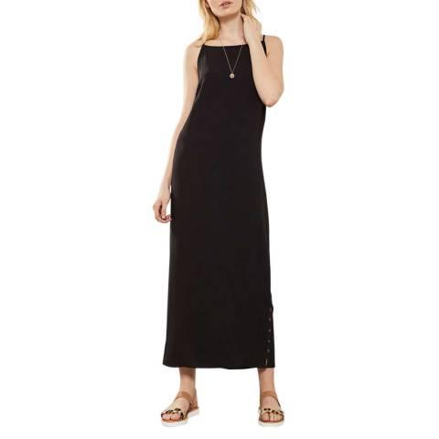 Mint Velvet Black Button Side Maxi Dress