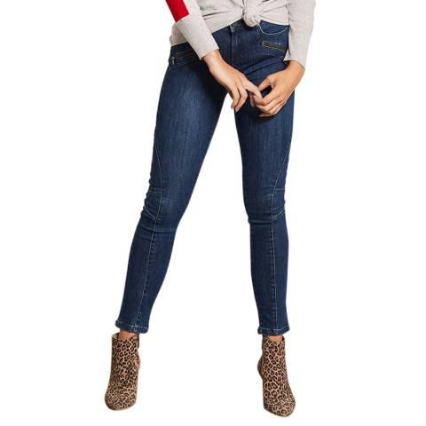 Mint Velvet Darby Blue Biker Skinny Jeans