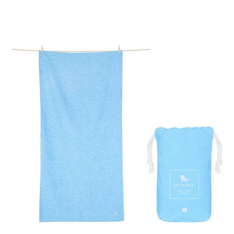 Dock & Bay Active Large Towel, Lagoon Blue
