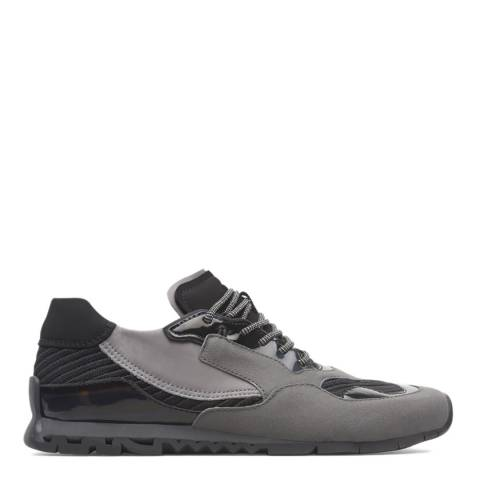 Camper Grey & Black Lace Up Nothing Sneakers