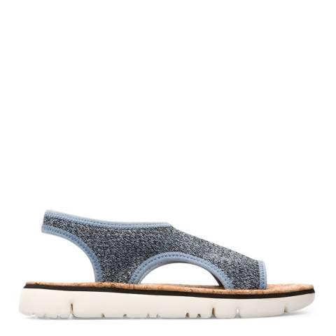 Camper Grey & Blue Cork Oruga Sandals