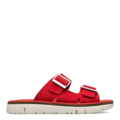 Camper Red Oruga Slip On Sandals