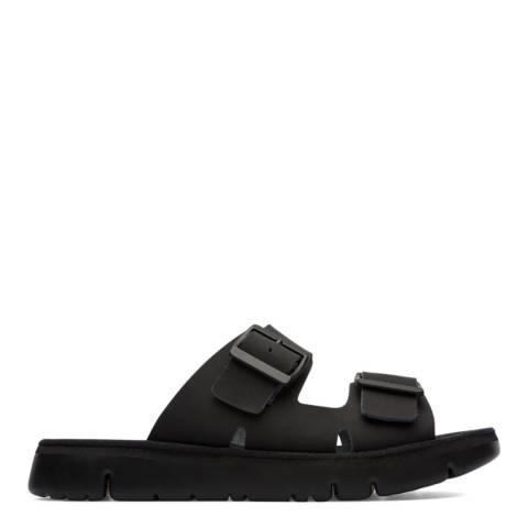 Camper Black Oruga Slip On Sandals