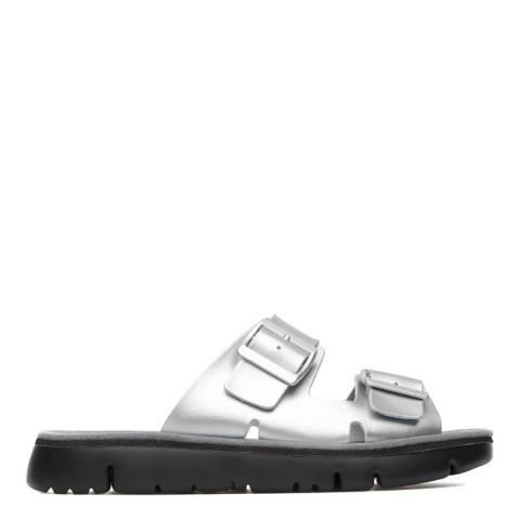 Camper Silver Oruga Slip On Sandals