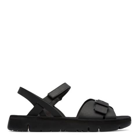 Camper Black Oruga Leather Sandals