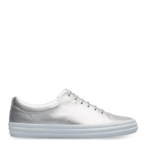 Camper Silver Hoops Leather Sneakers