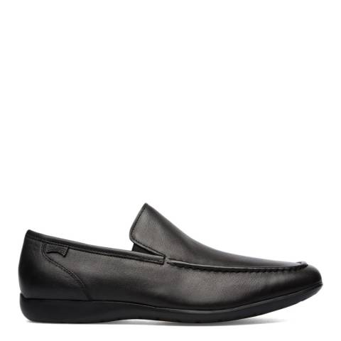 Camper Black Mauro Leather Moccasin Shoes