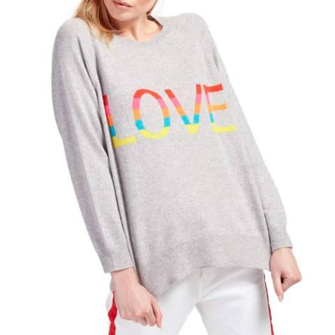 Scott & Scott London Grey Love Rainbow Cashmere Jumper