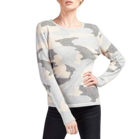 Scott & Scott London Grey Camo Cashmere Sweat