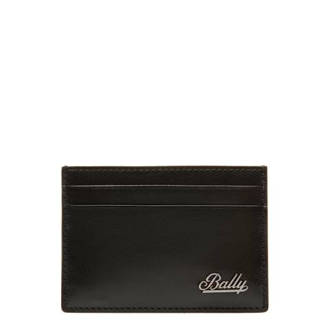 BALLY Black Metal Swoosh Business Card Holder