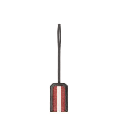BALLY Black Stripe Luggage Tag