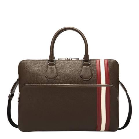 BALLY Coffee City Stripe Business Bag