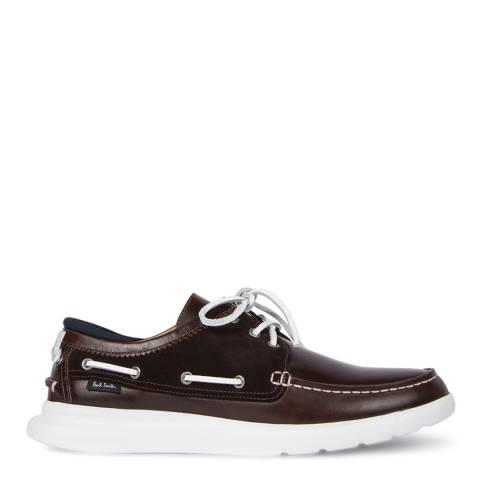 PAUL SMITH Dark Brown Tide Moccasin Shoe
