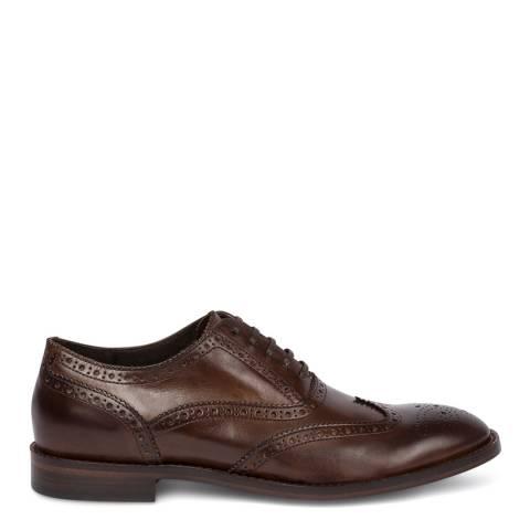 PAUL SMITH Dark Brown Munro Leather Brogue Shoe