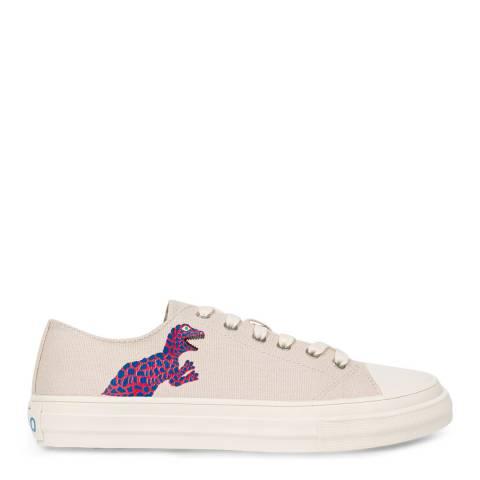 PAUL SMITH Cream Kinsey Dino Print Sneaker
