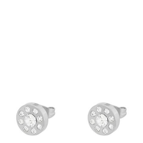 Liv Oliver Silver Plated Multi CZ Stud Earrings
