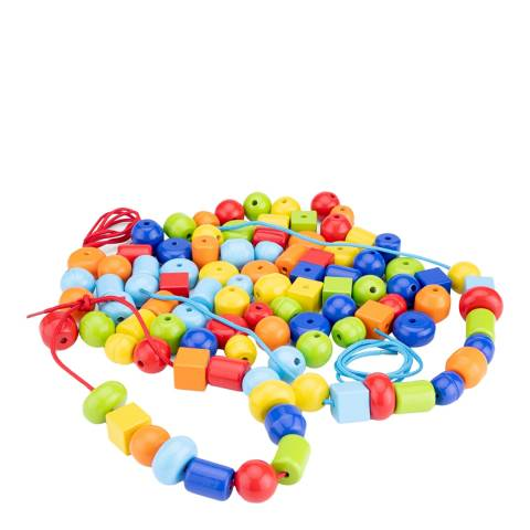 New Classic Toys Wooden Beads - 96pcs.