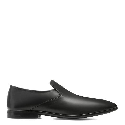 BALLY Black Leather Furco Loafer