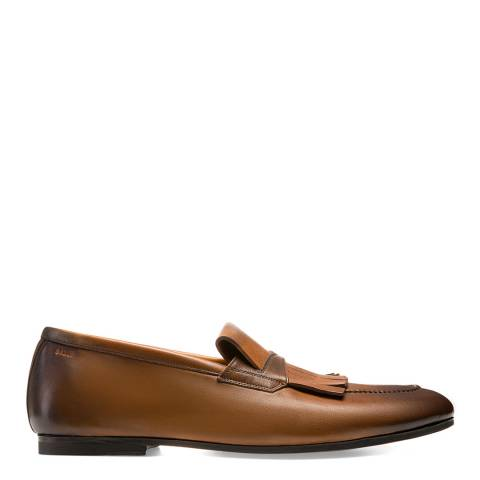 BALLY Brown Leather Plumiel Loafer