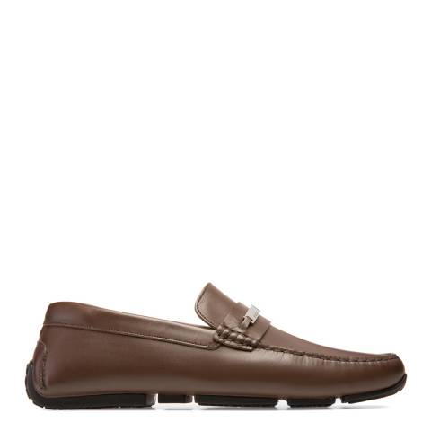 BALLY Brown Leather Pigle Driver Shoe