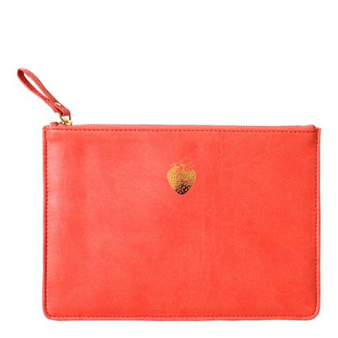 Sky + Miller Strawberry Coral Pouch