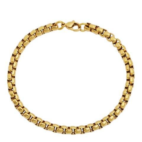 Stephen Oliver 18K Gold Plated Box Link Bracelet