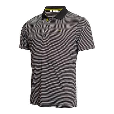 Calvin Klein Golf Black/White Mini Stripe Polo