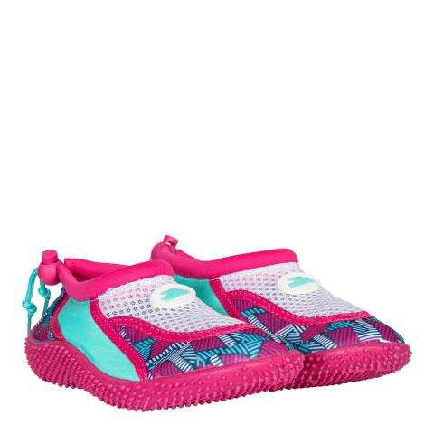 Trespass Girl's Pink Lady Print Squidette Aqua Shoes